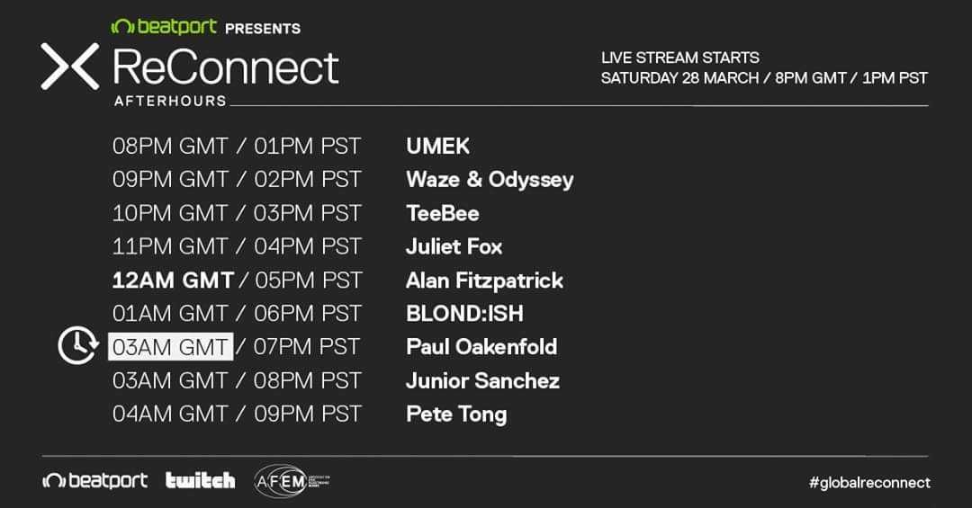 Beatport Presents ReConnect Set Times