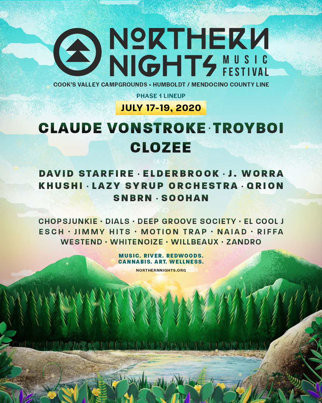 Northern Nights 2020 Phase 1 Lineup