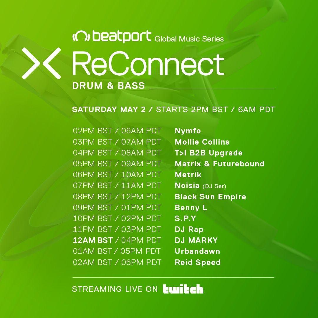 Beatport ReConnect Drum & Bass Schedule