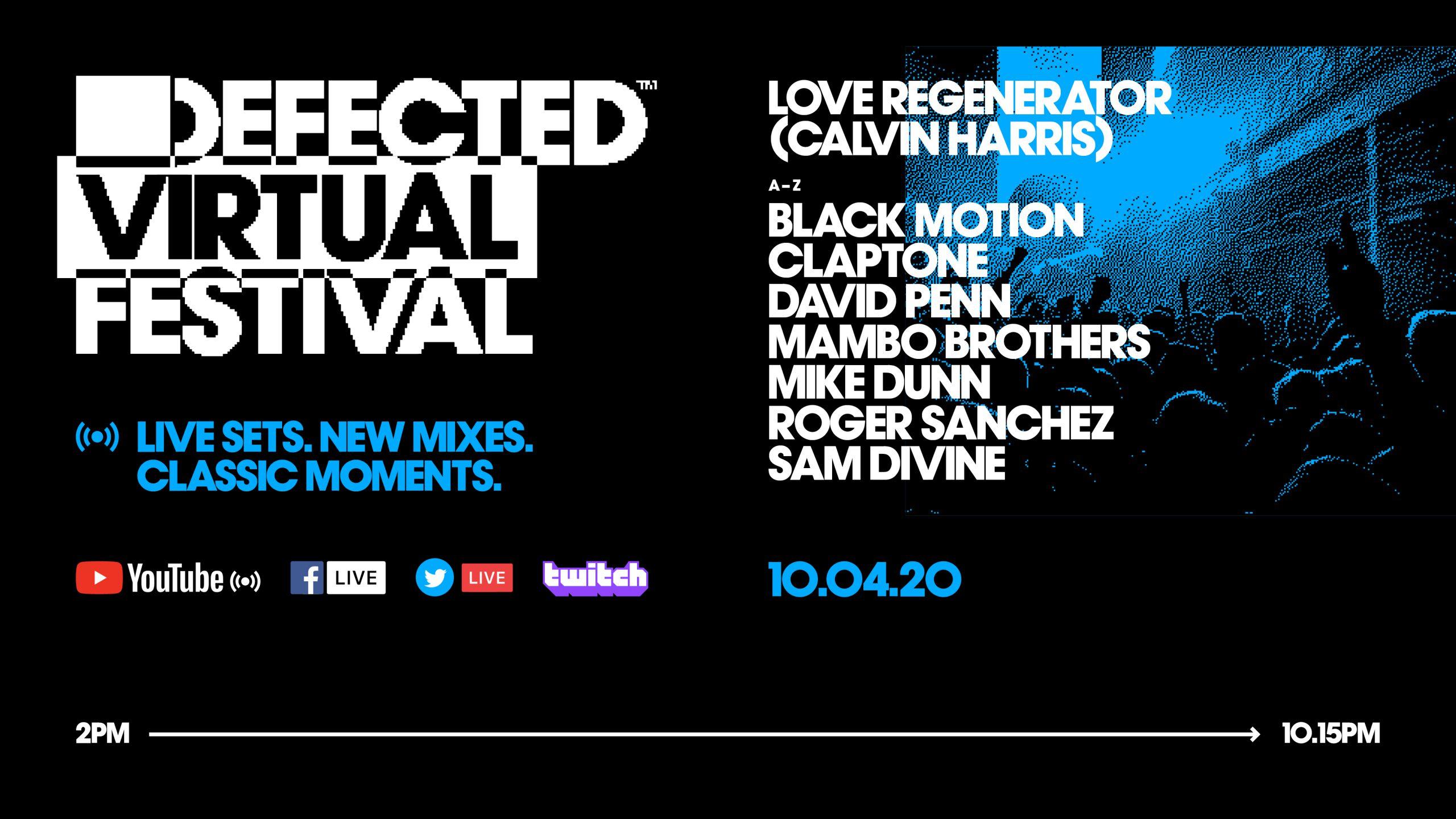 Defected Virtual Festival 3.0 Lineup
