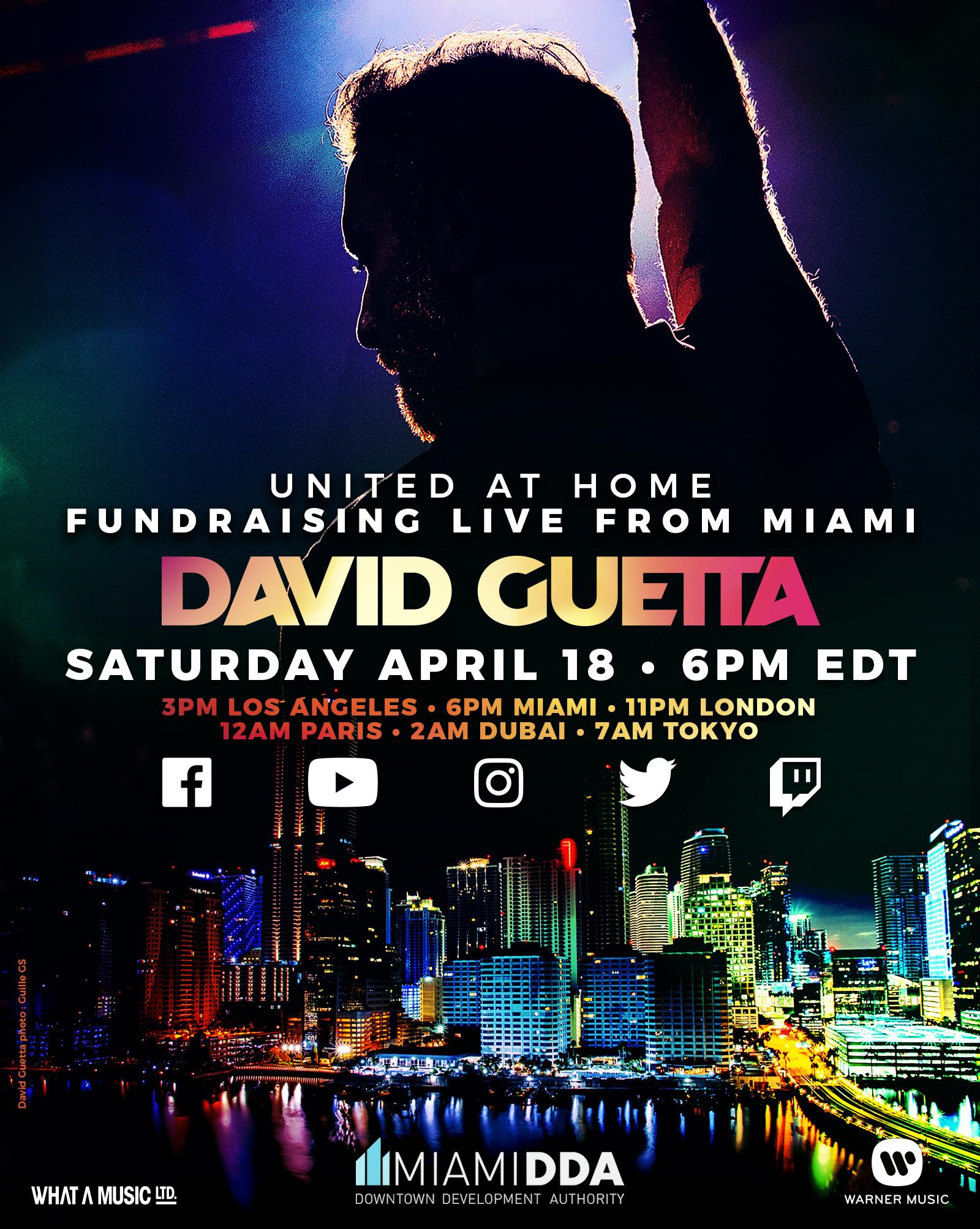 David Guetta United At Home Miami