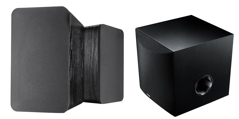 Insignia Speakers and Yamaha Subwoofer