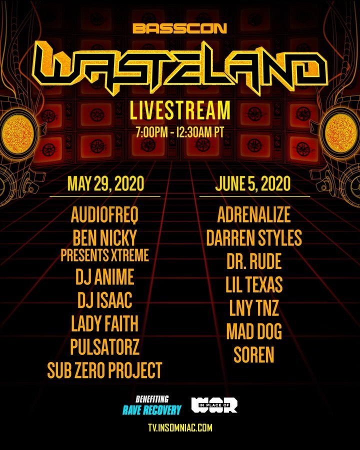 Basscon presents Wasteland Livestream Lineup