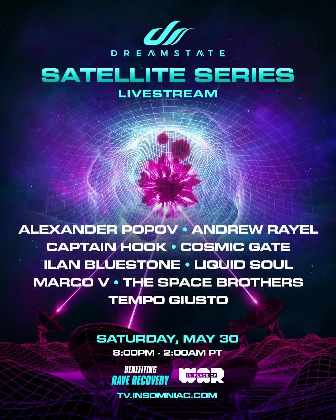 Dreamstate Satellite Series Livestream Lineup