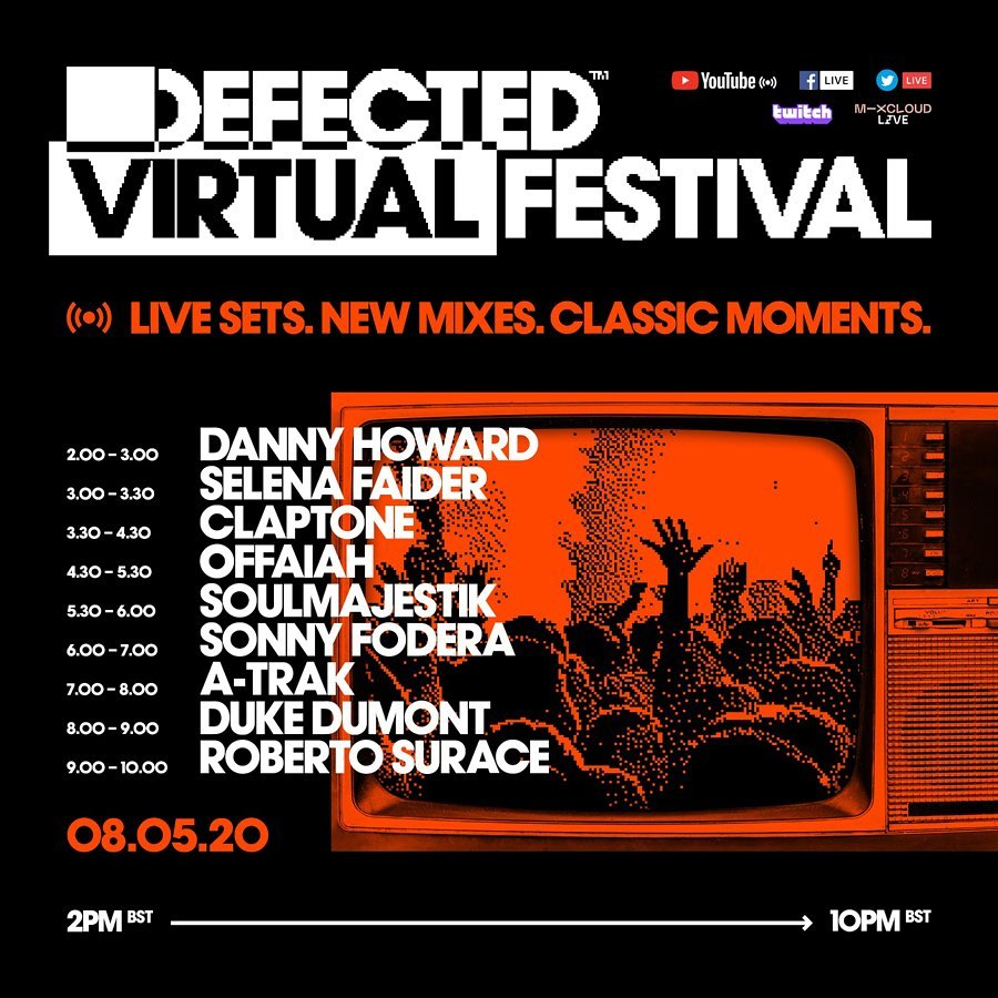 Defected Virtual Festival 5.0 Lineup and Schedule