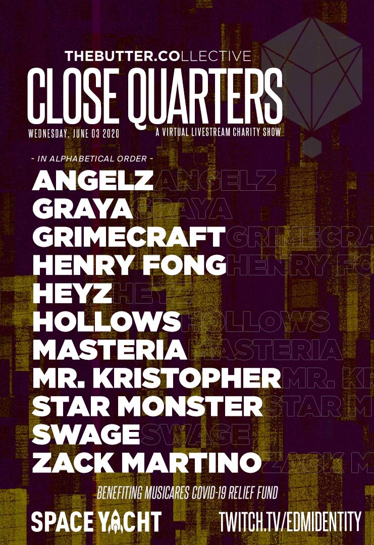 Close Quarters June 3 Lineup