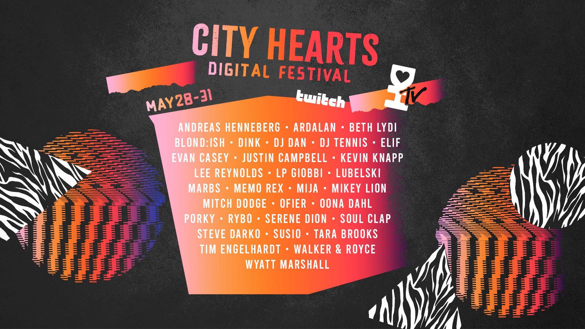 City Hearts Digital Festival Lineup