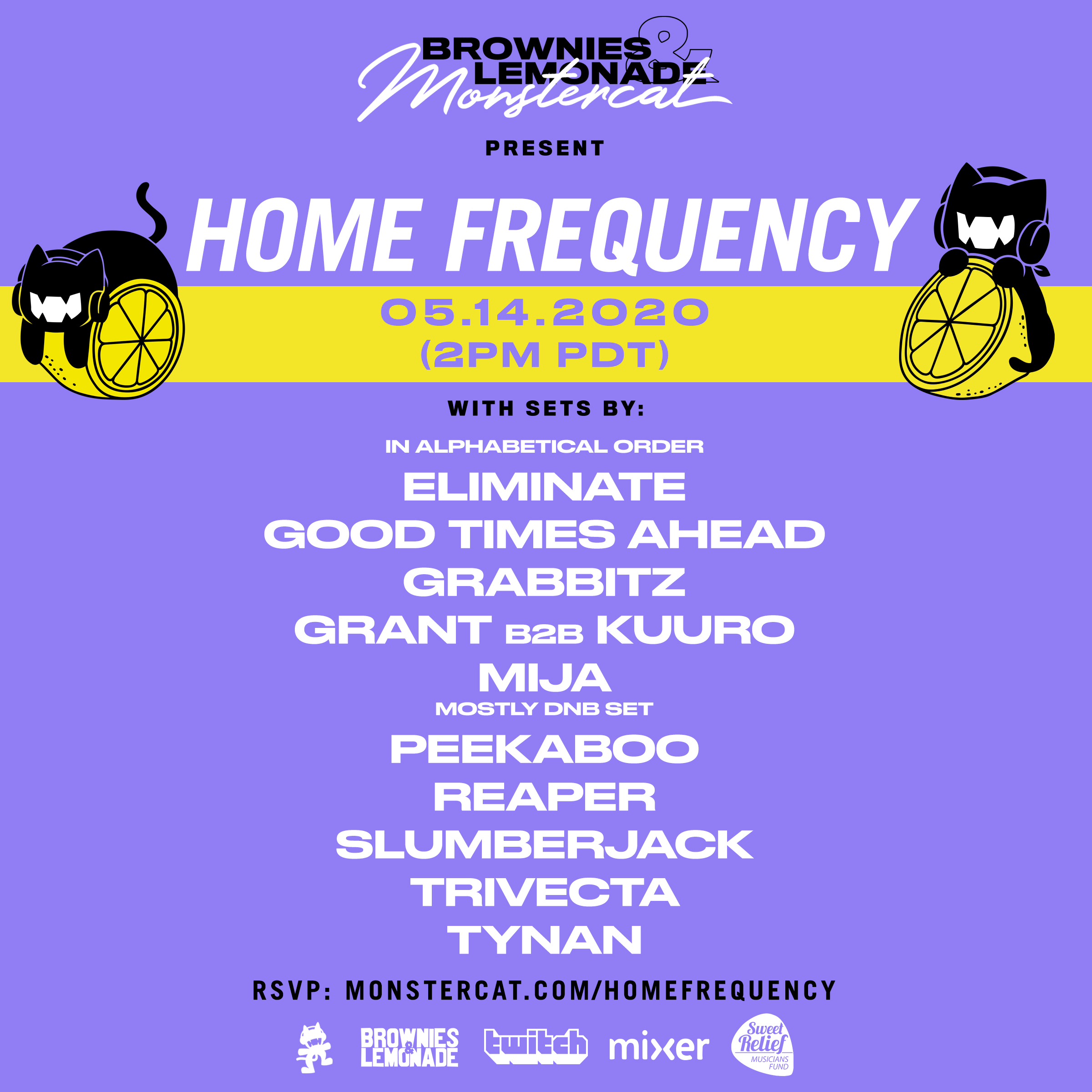 Brownies & Lemonade and Monstercat Present: Home Frequency Lineup