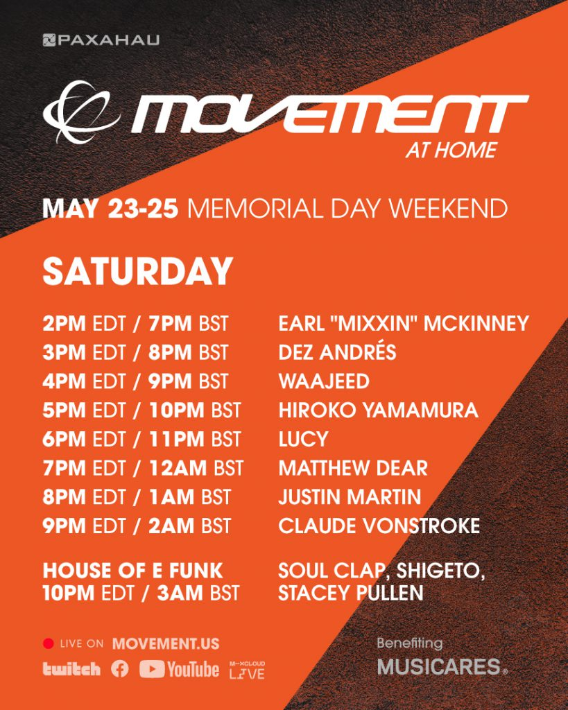 Movement at Home Livestream Schedule - Saturday