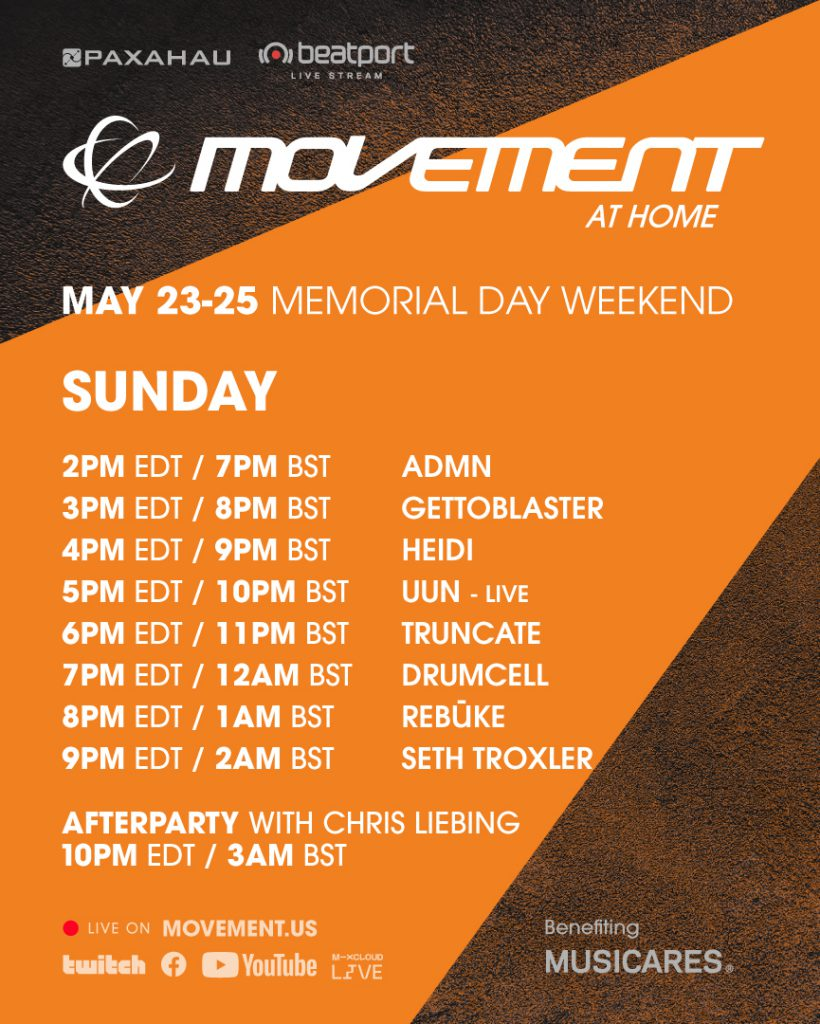 Movement at Home Livestream Schedule - Sunday