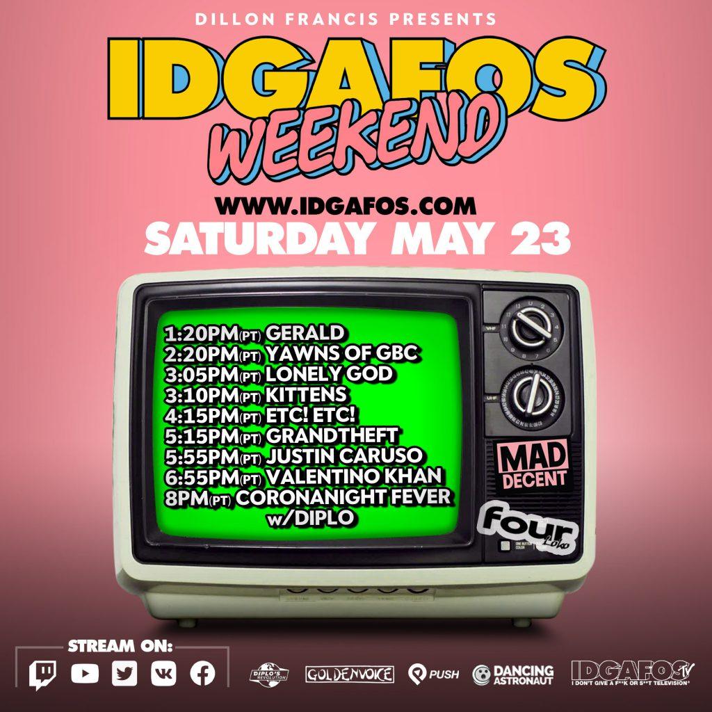 IDGAFOS Weekend Stream - Saturday