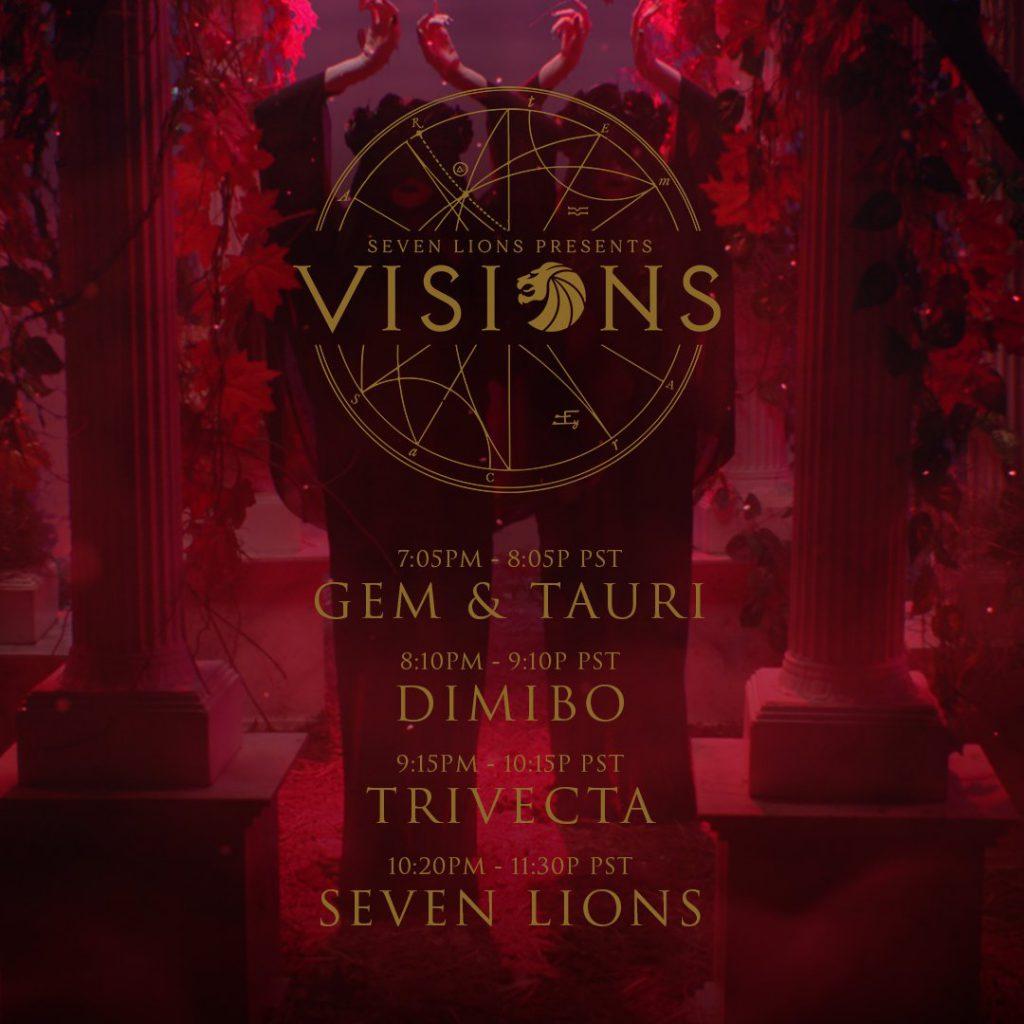 seven lions visions livestream schedule