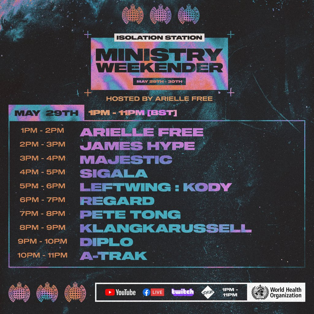 Ministry of Sound Ministry Weekender Day 1 Schedule