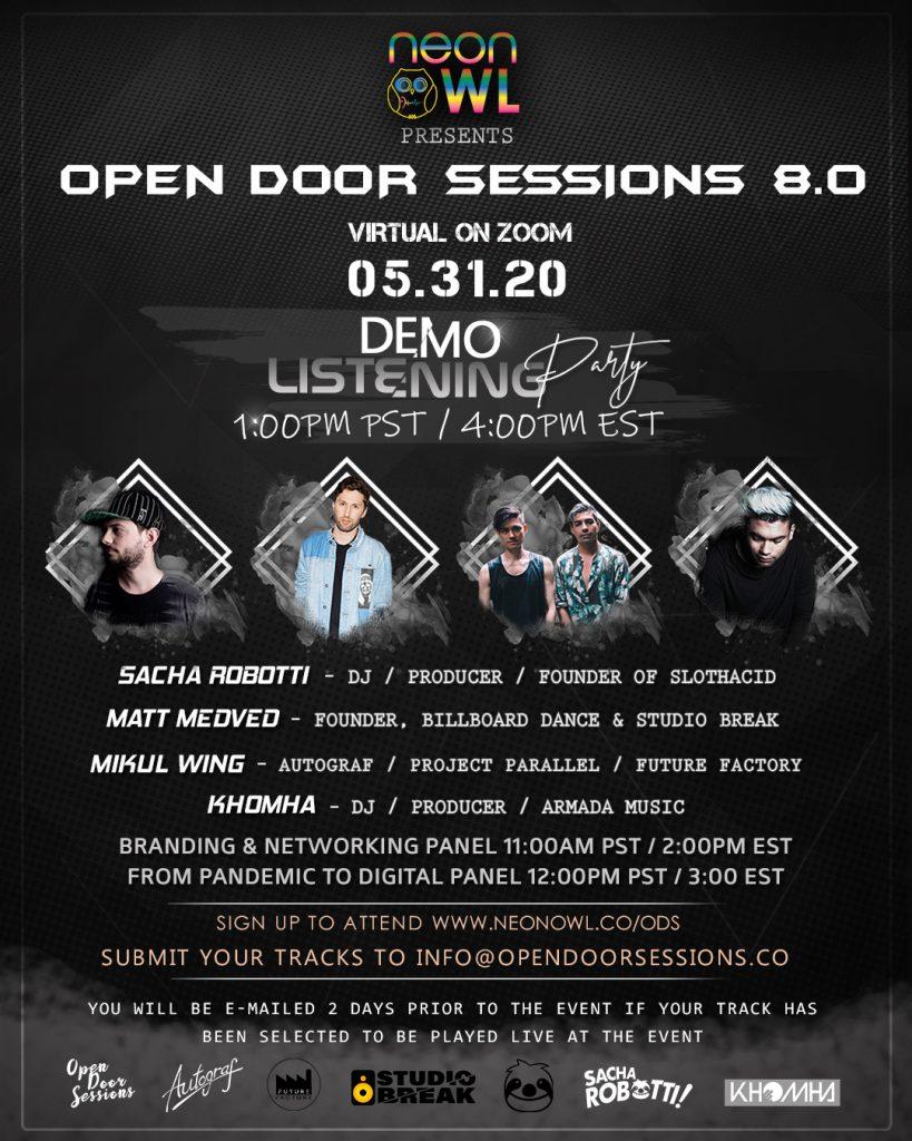 Open Door Sessions 8 Demo Flyer
