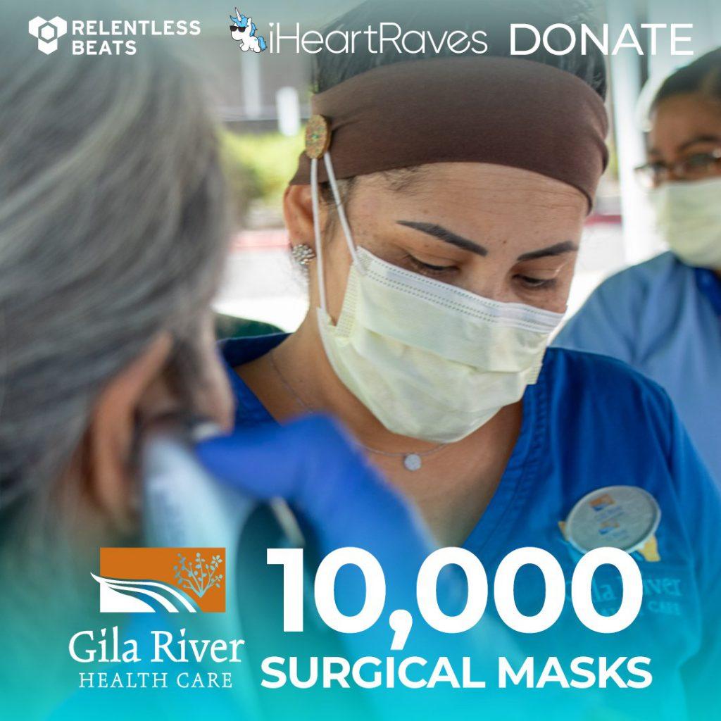 Relentless Beats iHeartRaves Mask Donation