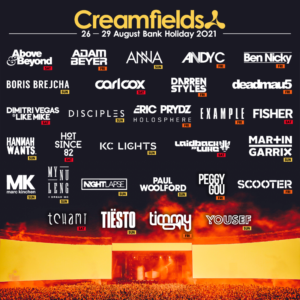 Creamfields 2021 Initial Lineup