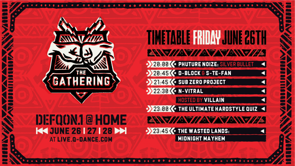 Defqon.1 at Home Festival 2020 Friday Schedule
