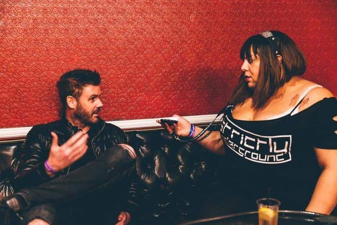 Danielle Sanders interviewing Sneidjer