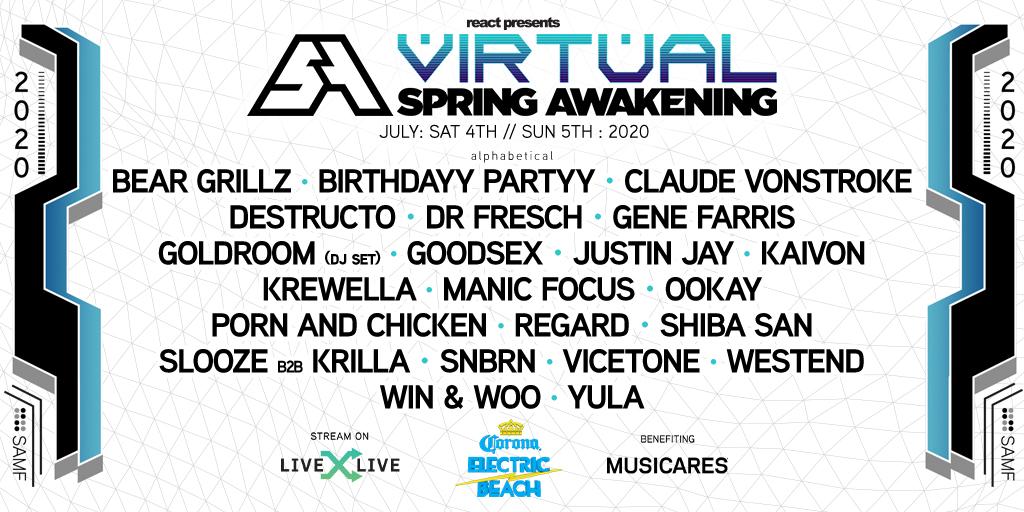 Virtual Spring Awakening 2020 - Lineup