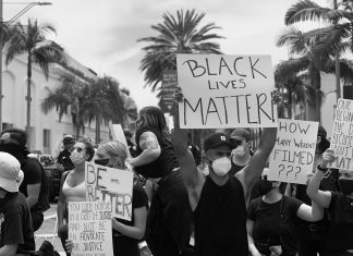 Black Lives Matter Black Out Tuesday Protest