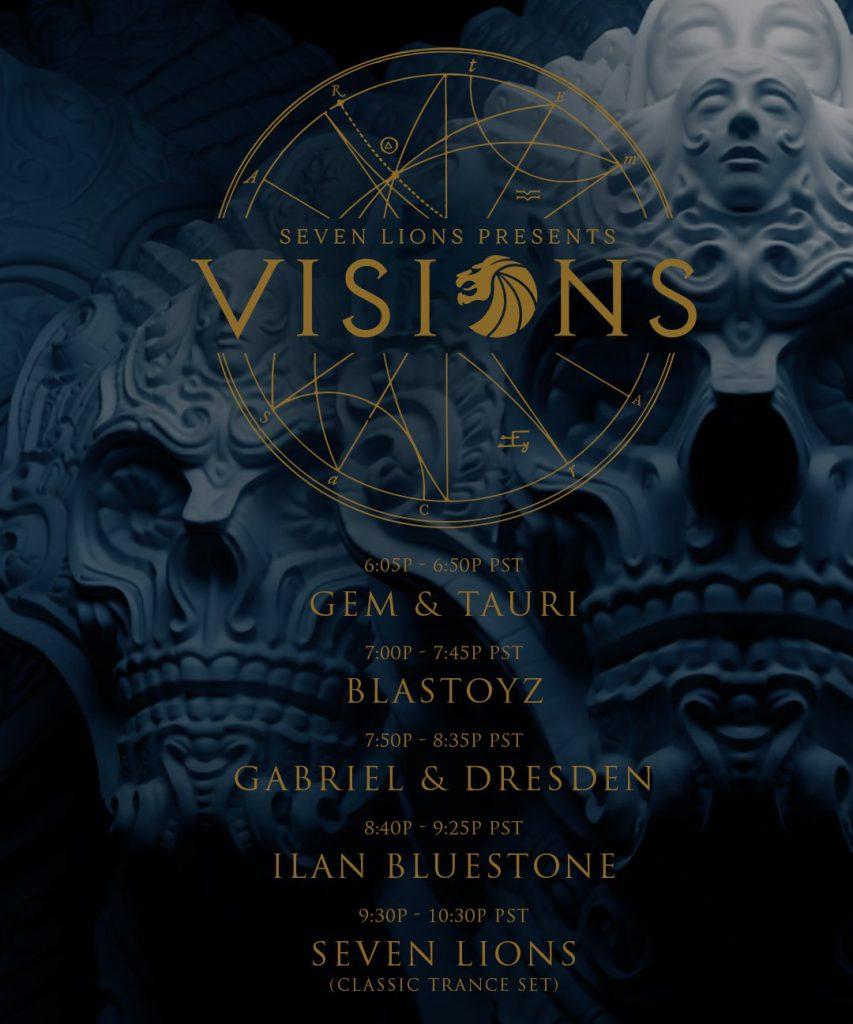 Seven Lions Visions 3 Schedule