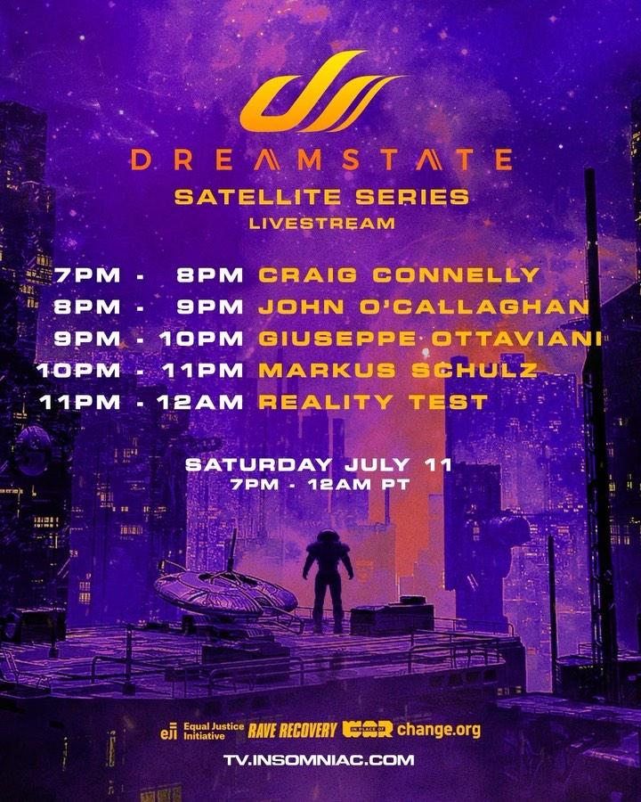 Dreamstate Satellite Series Livestream - Schedule