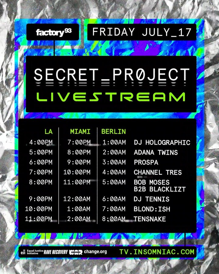Secret Project Livestream - Schedule