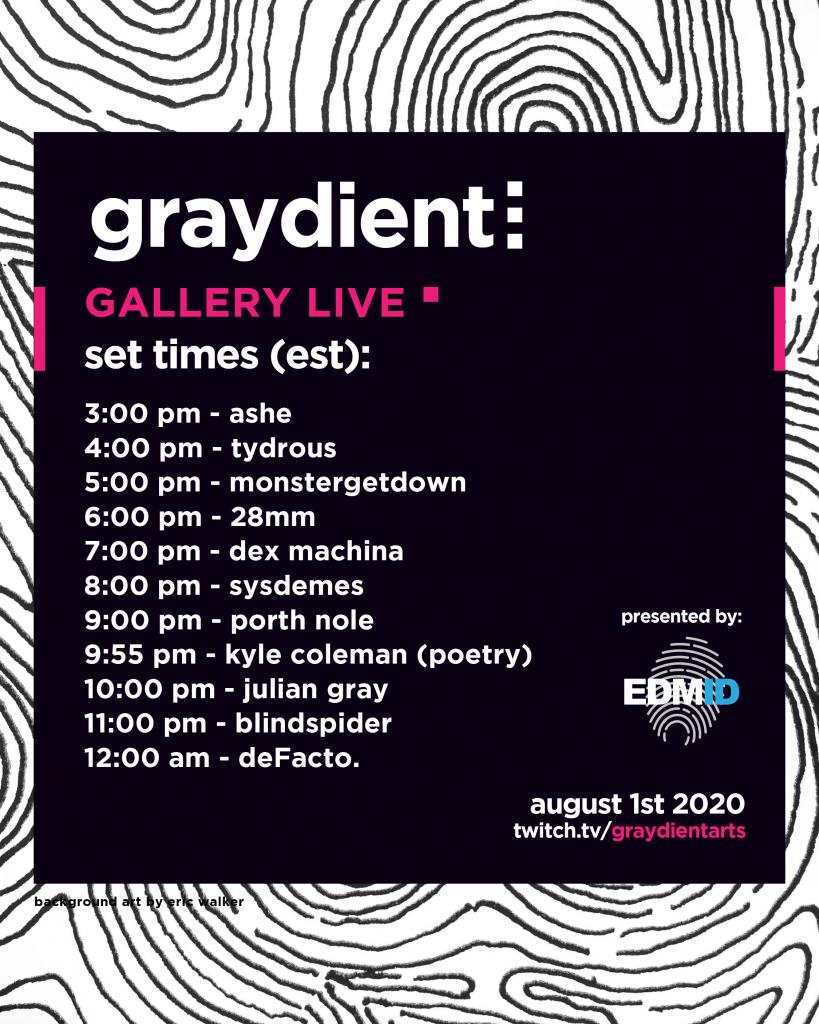 Graydient Gallery Live Schedule