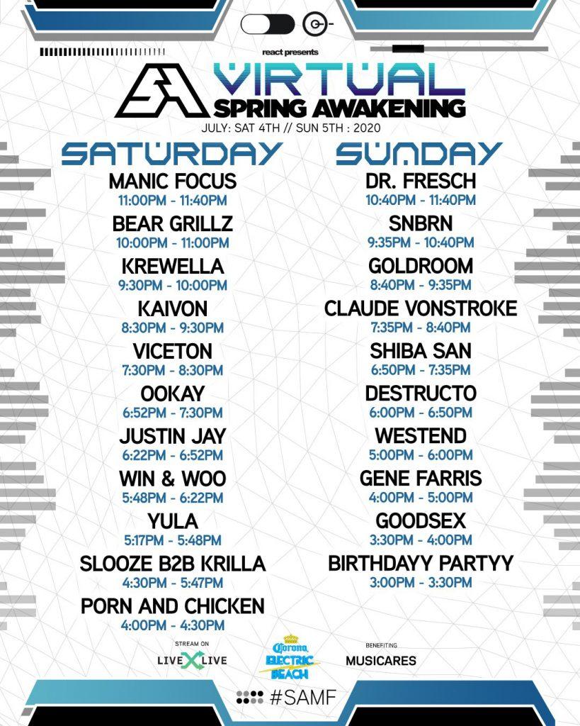 Virtual Spring Awakening 2020 - Schedule