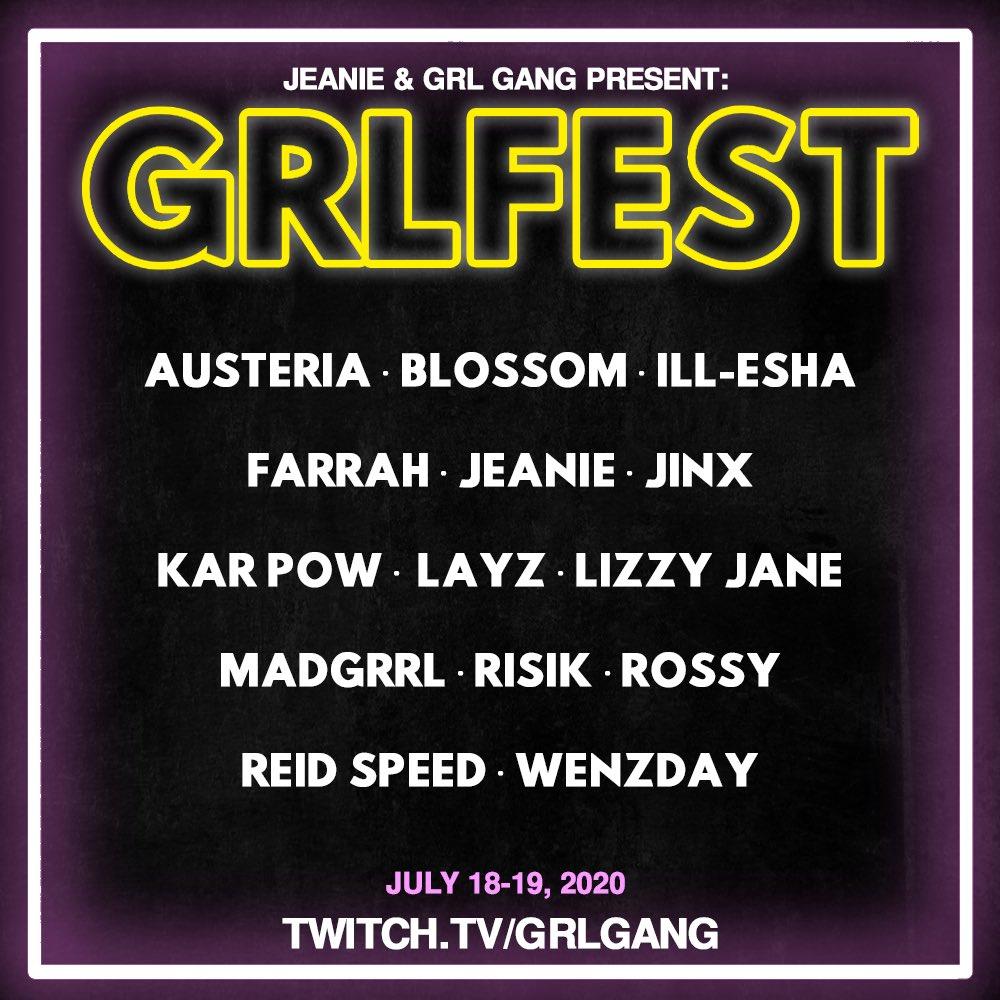GRL GANG GRLFEST Lineup