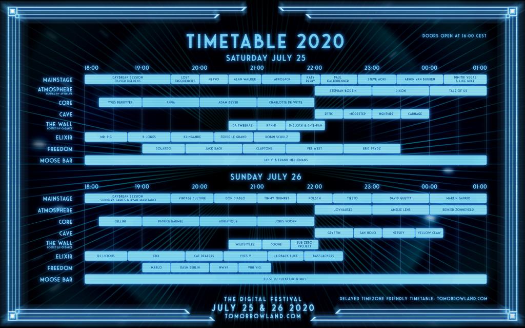Tomorrowland Around The World Schedule