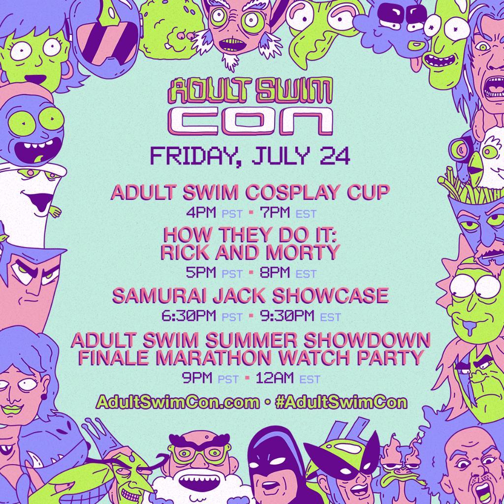 Adult Swim Con Livestream Schedule - Friday