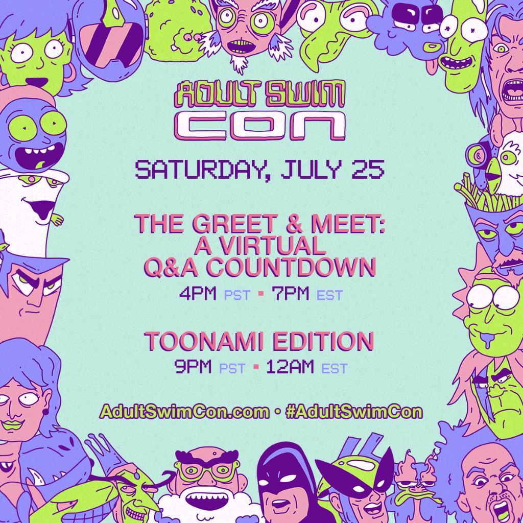 Adult Swim Con Livestream Schedule - Saturday