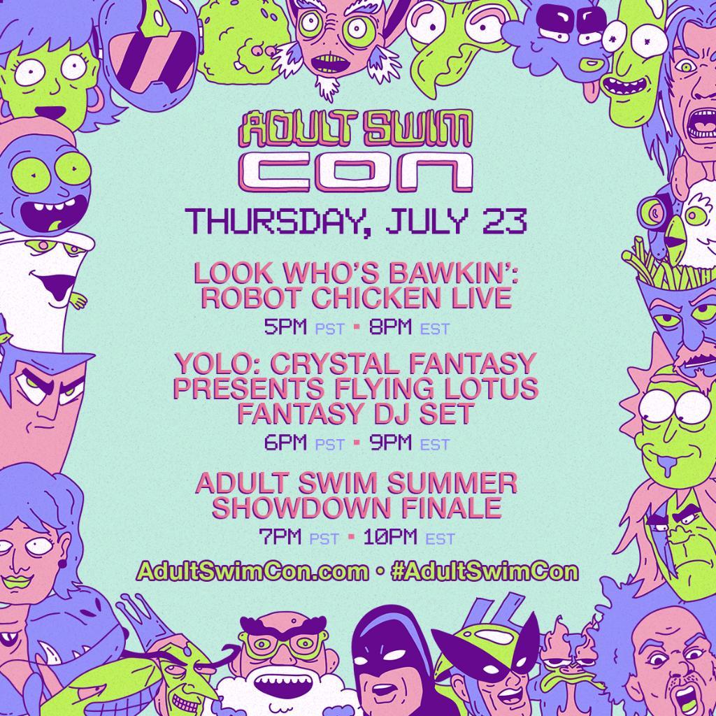 Adult Swim Con Livestream Schedule - Thursday