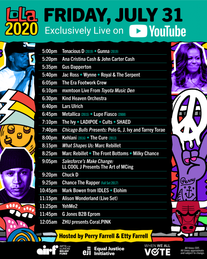 Lolla2020 Schedule - Friday