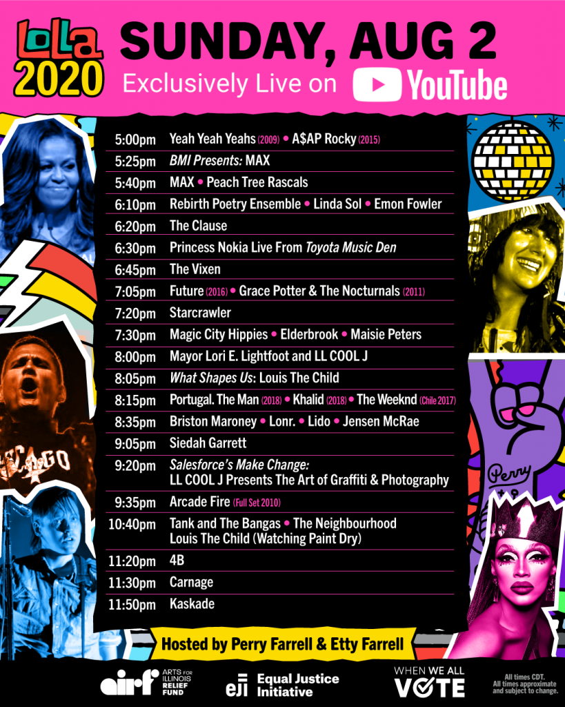Lolla2020 Schedule - Sunday