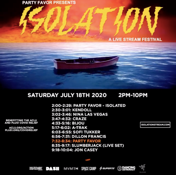 Party Favor Isolation Livestream Festival Set Times