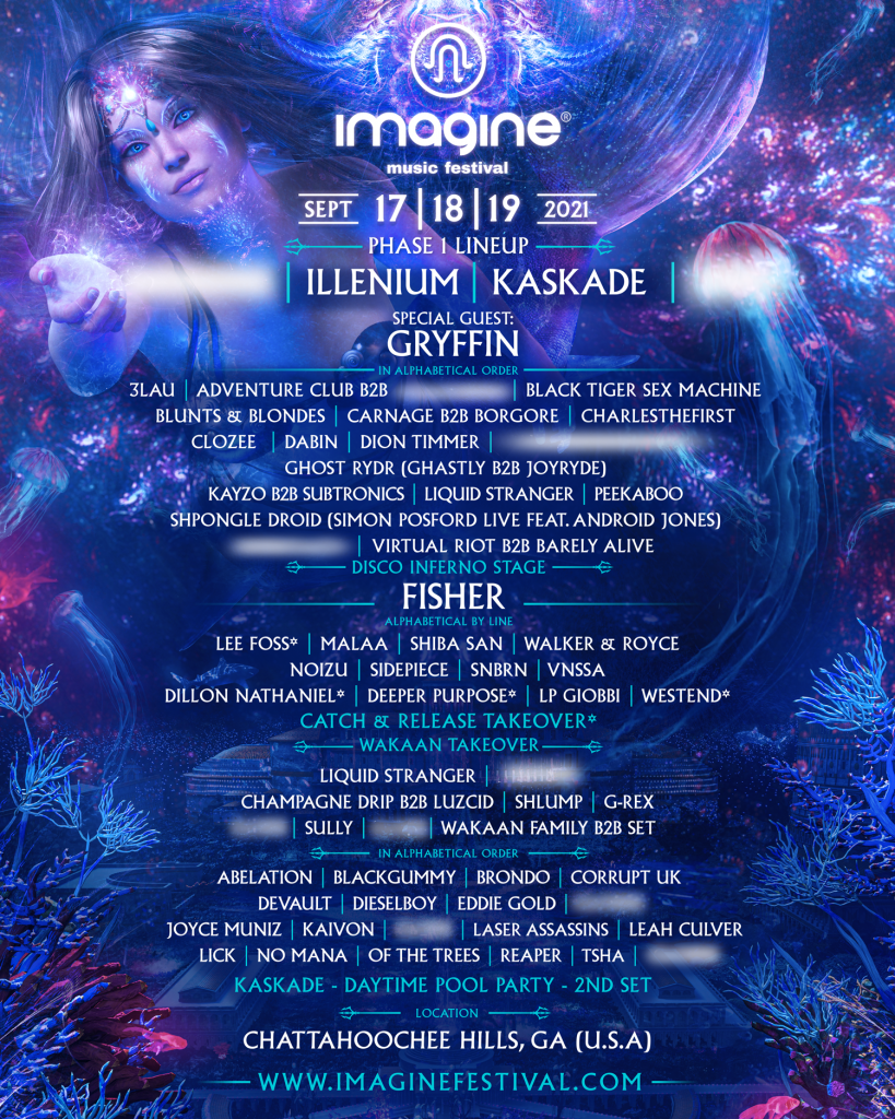 Imagine Music Festival 2021 Phase 1 Lineup