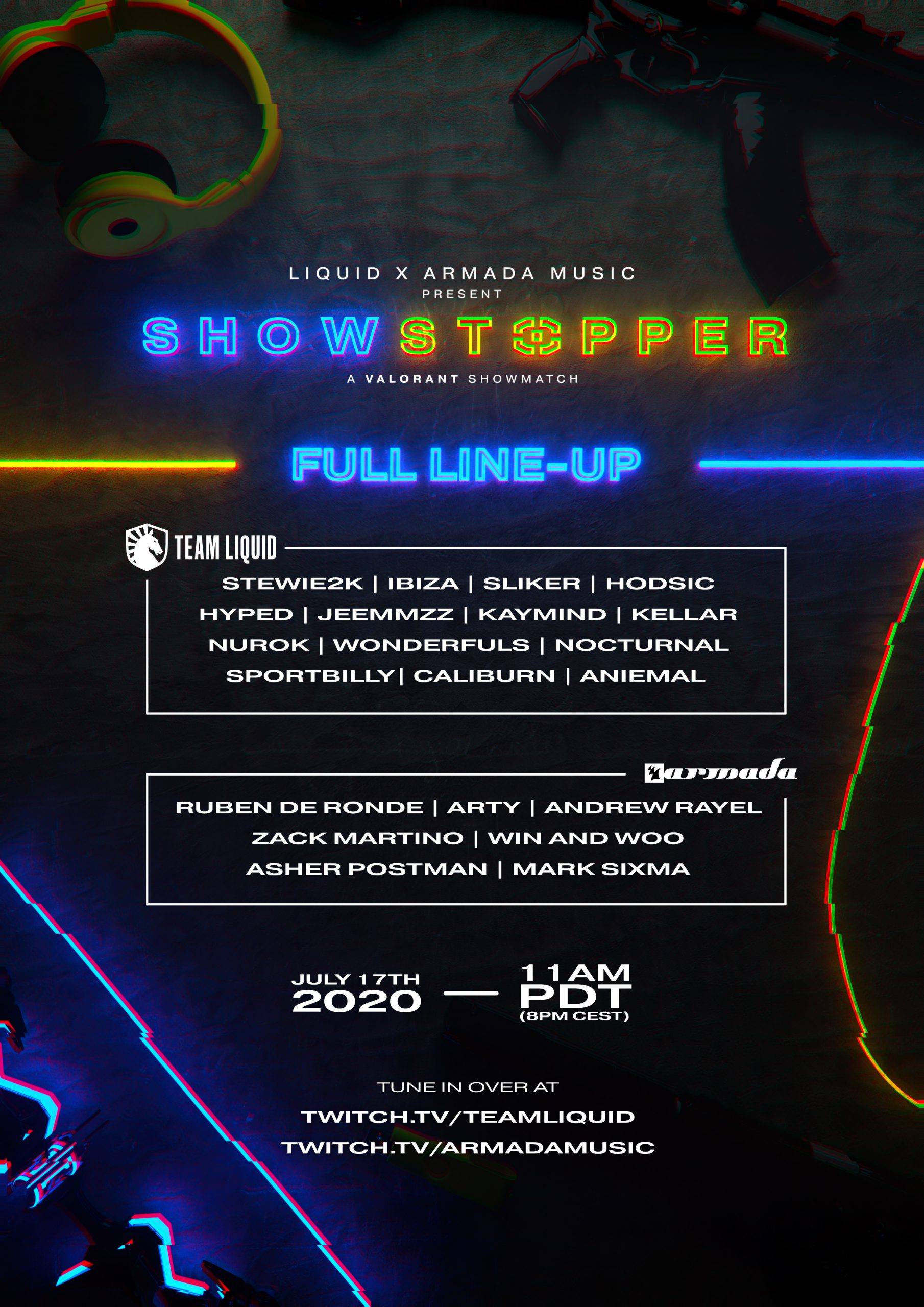 Showstopper Lineup Poster