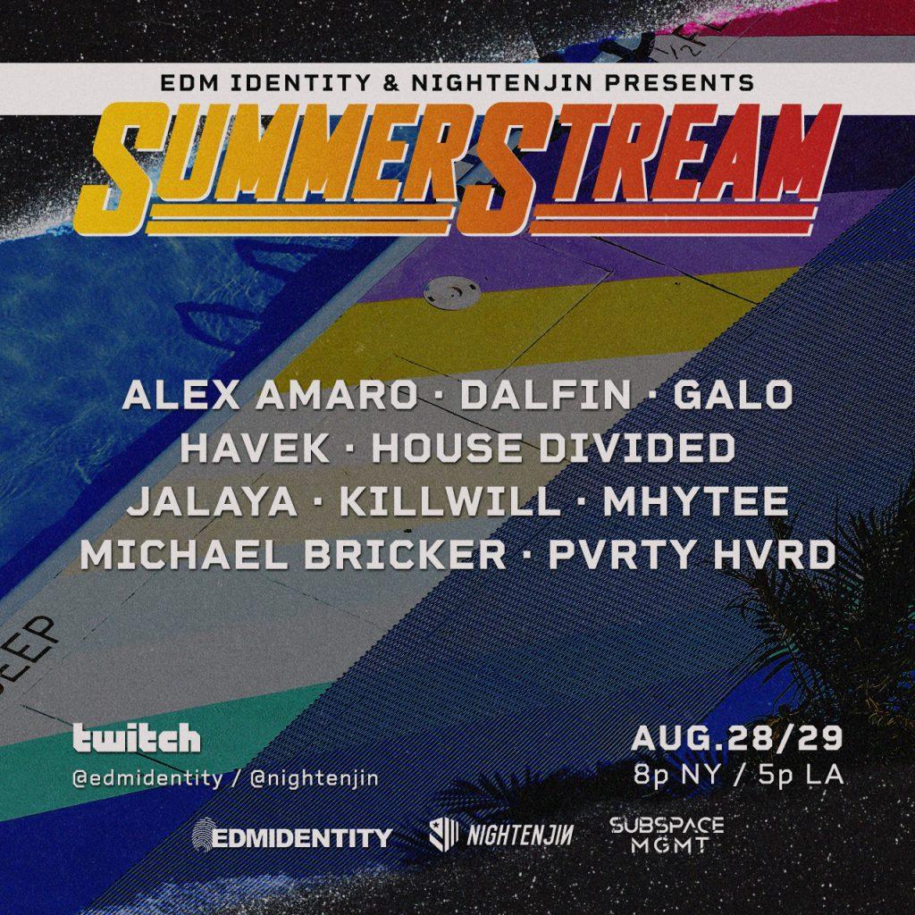 EDMIDtv Nightenjin Summer Stream Lineup