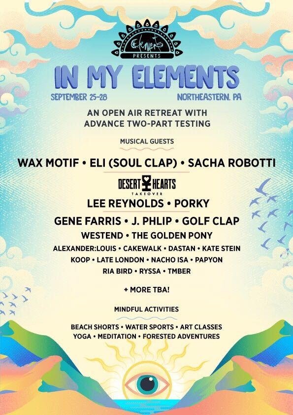 In My Elements Open Air Retreat: Fall Edition - Lineup