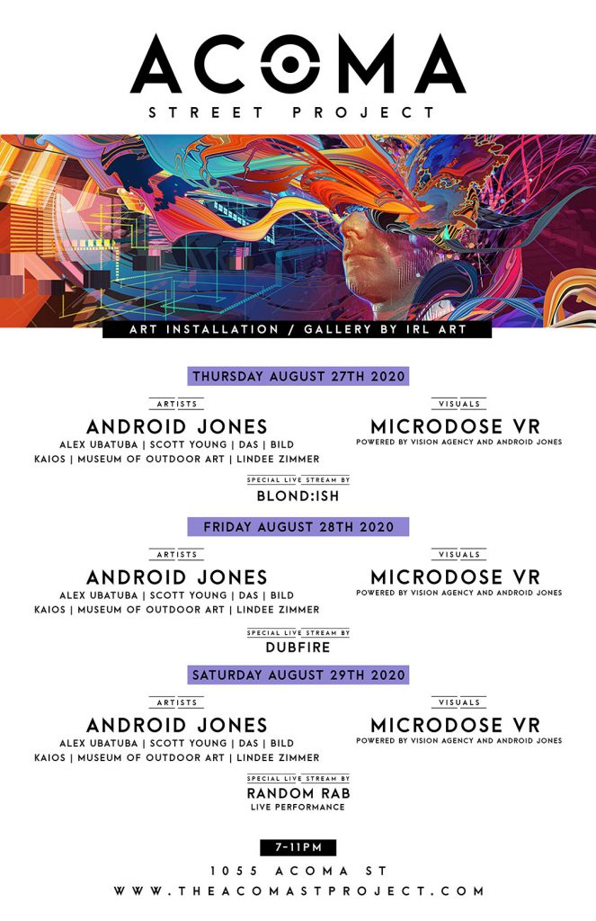 The Acoma Street Project Denver Opening Weekend Lineup