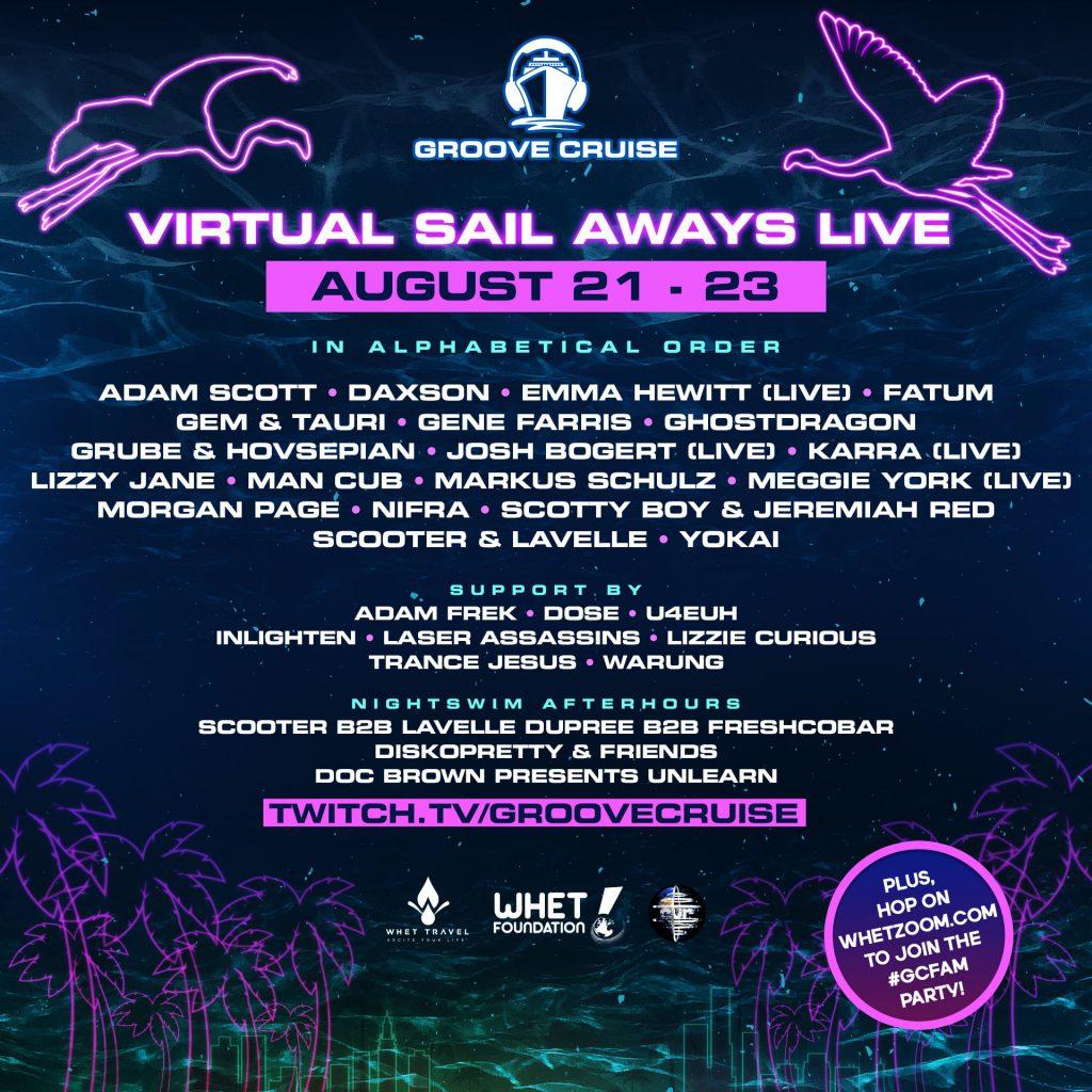 Groove Cruise Virtual Sail Aways Live August