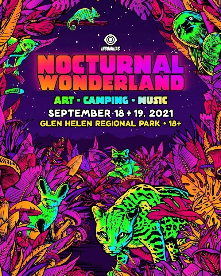 Nocturnal Wonderland 2021 Dates