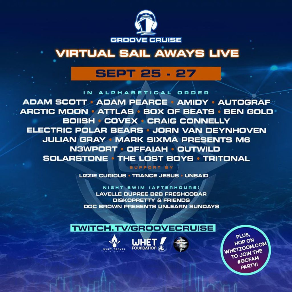 Groove Cruise Sail Aways September Lineup