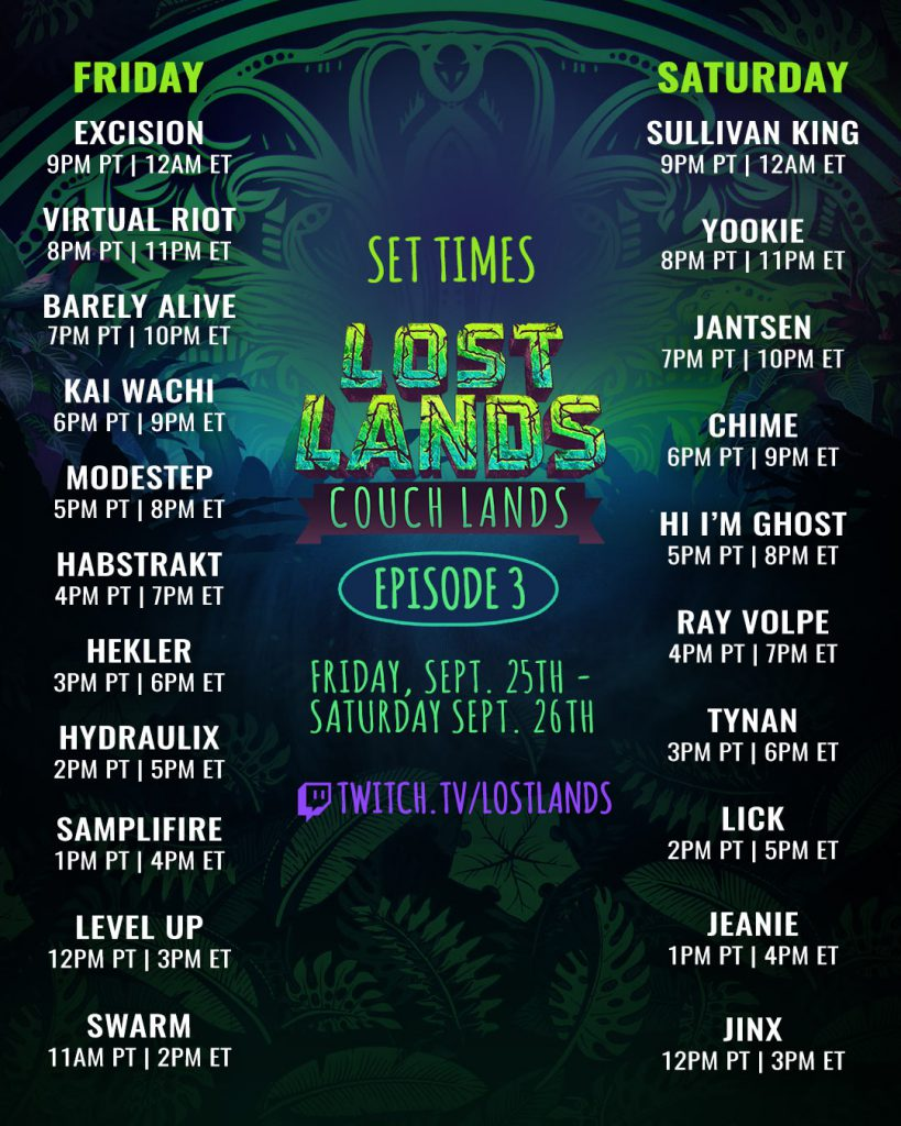 Couch Lands Episode 3 Schedule