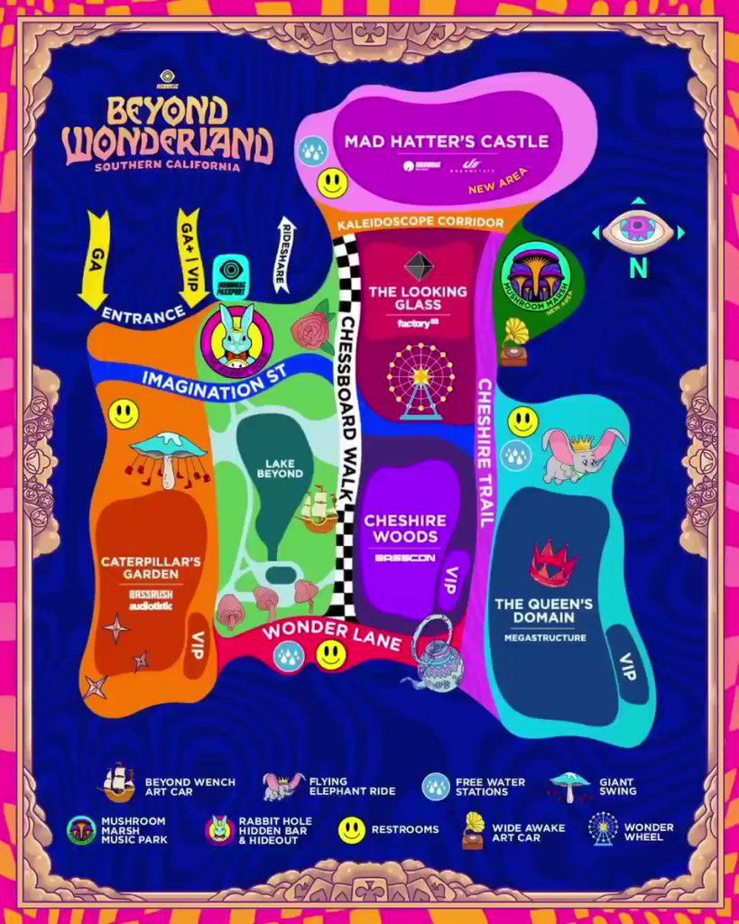 Beyond Wonderland SoCal 2021 Map