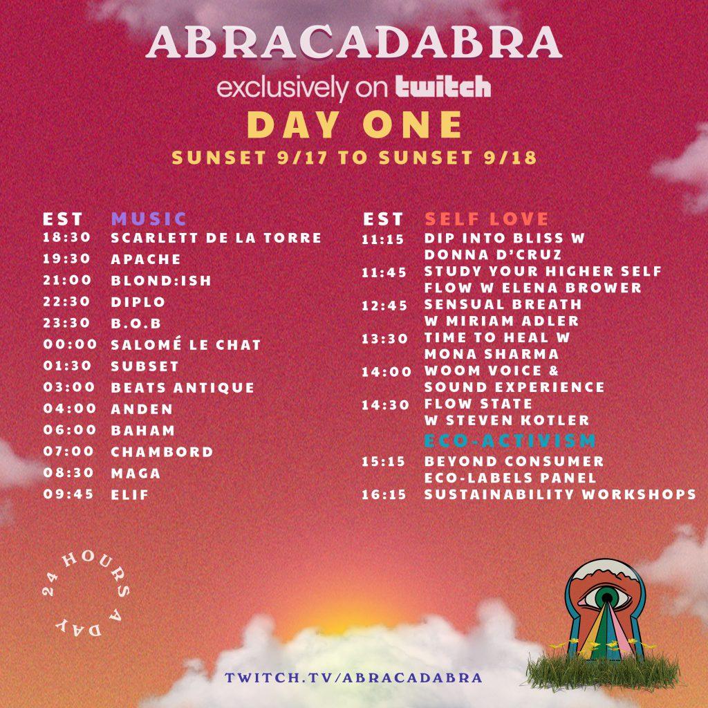 Abracadabra Festival Livestream Schedule - Thursday