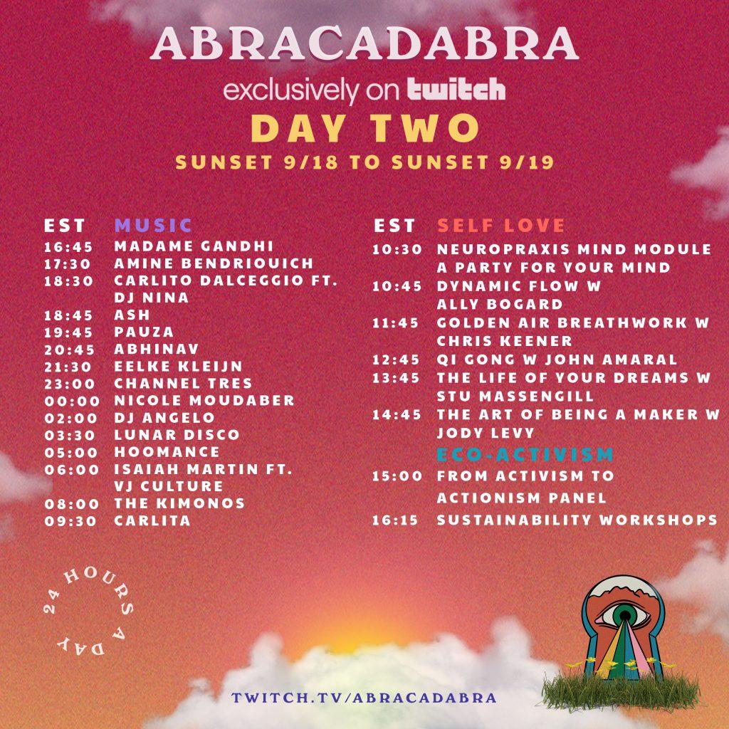 Abracadabra Festival Livestream Schedule - Friday