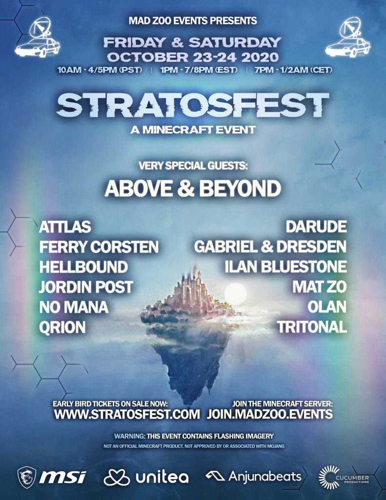 Mad Zoo Events Stratofest Lineup